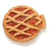 """CROSTATA"" (PIE) WITH FRUIT JAM OF APRICOTS"