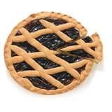 """CROSTATA"" (PIE) WITH FRUIT JAM OF BLACKBERRIES"